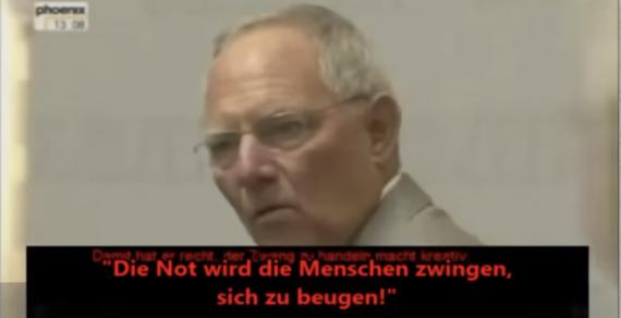 """Wolfgang Schäuble: """"Wenn die Krise größer wird, werden die Fähigkeiten, Veränderungen durchzusetzen, größer."""""""